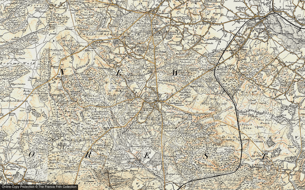 Old Map of Lyndhurst, 1897-1909 in 1897-1909