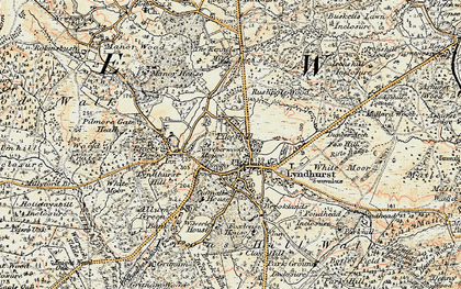 Old map of Lyndhurst in 1897-1909