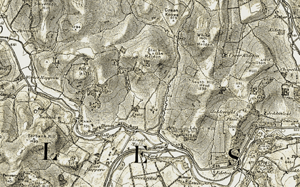 Old map of Lyne in 1903-1904