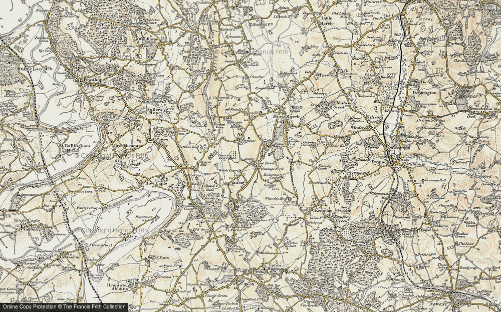 Old Map of Historic Map covering Awnells in 1899-1900