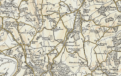 Old map of Awnells in 1899-1900