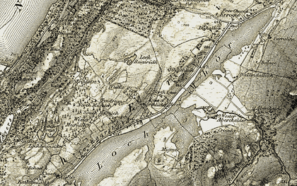 Old map of Wester Murnich in 1908-1912