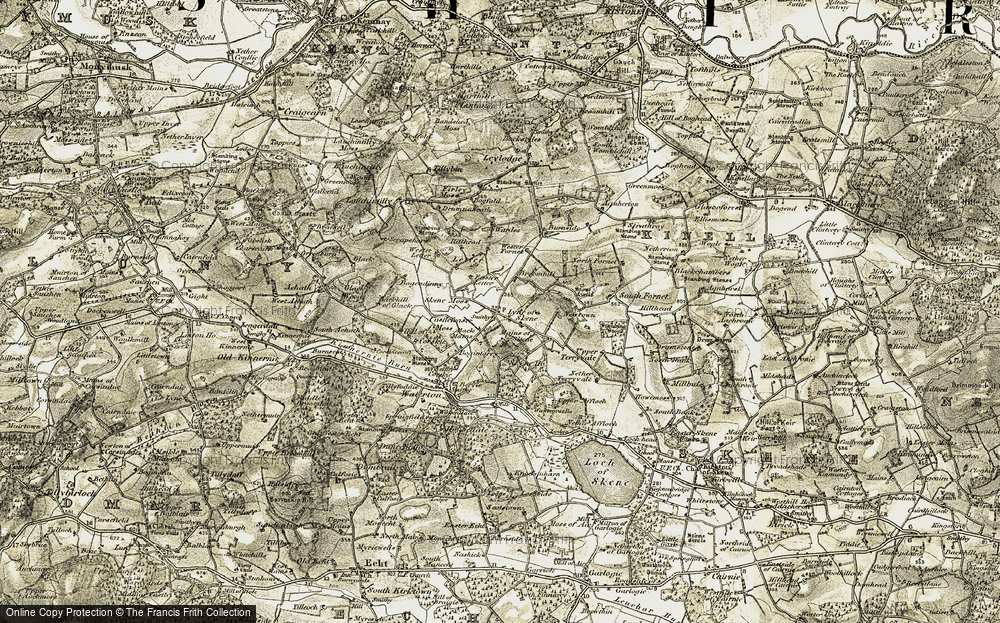 Old Map of Historic Map covering Back Mains in 1909
