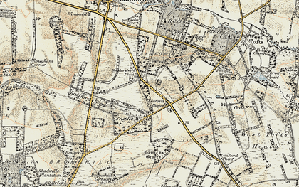 Old map of Lynford in 1901