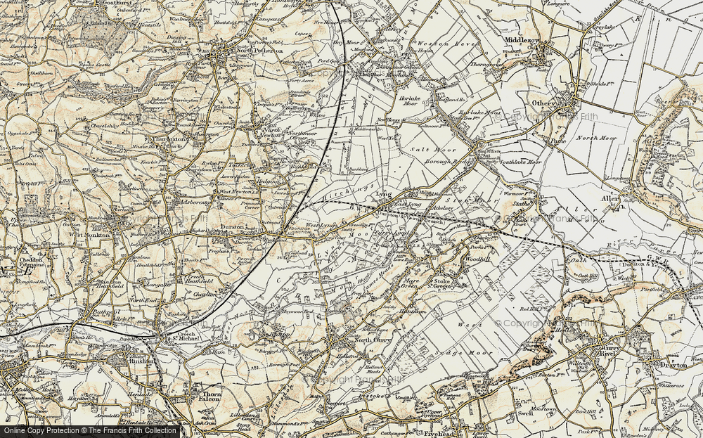 Old Map of Historic Map covering Bankland Br in 1898-1900
