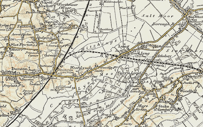 Old map of Bankland Br in 1898-1900