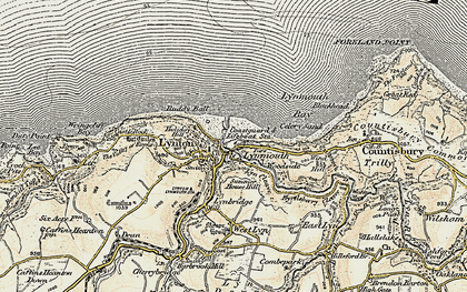 Old map of Wind Hill in 1900