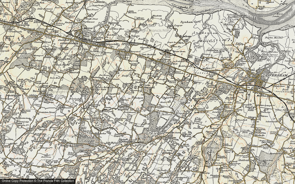 Old Map of Historic Map covering Aymers in 1897-1898
