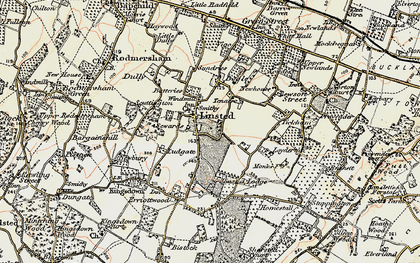 Old map of Aymers in 1897-1898