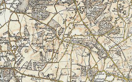 Old map of Lytchett Matravers in 1897-1909