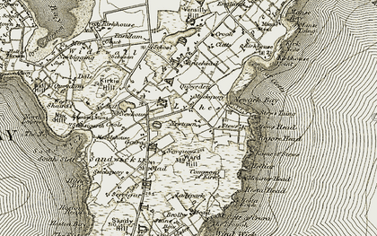 Old map of Ball Hill in 1911-1912