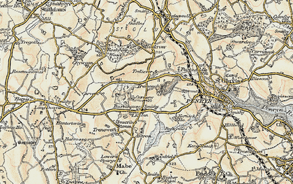 Old map of Mabe Burnthouse in 1900