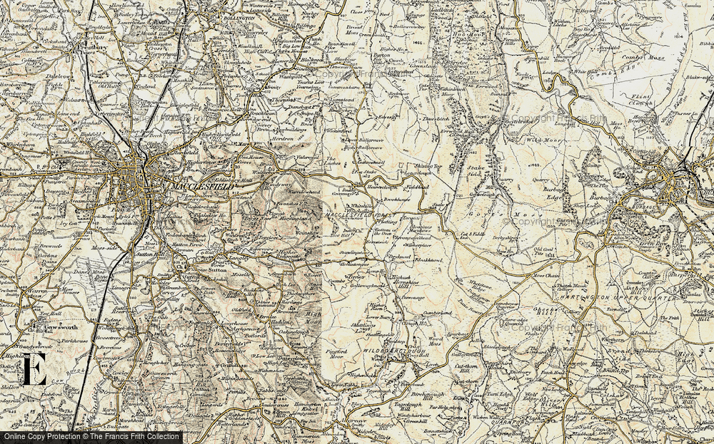 Old Map of Historic Map covering Toot Hill in 1902-1903