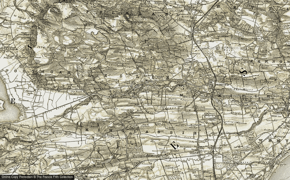 Old Map of Historic Map covering Balgeddie in 1903-1908