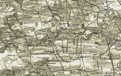 Old map of Balgeddie in 1903-1908
