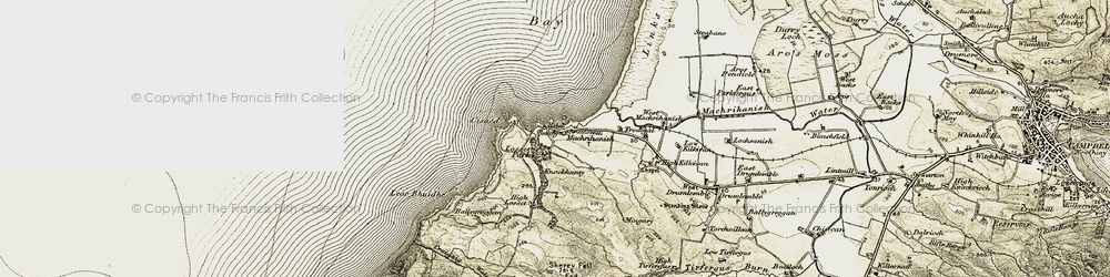 Old map of West Trodigal in 1905