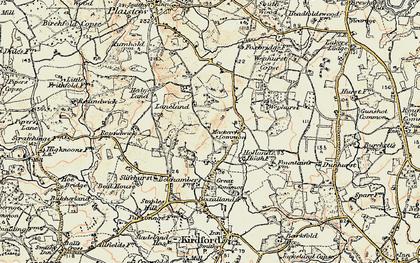 Old map of Lanelands in 1897-1900