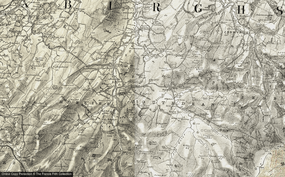 Old Map of Historic Map covering Abbotrule in 1901-1904