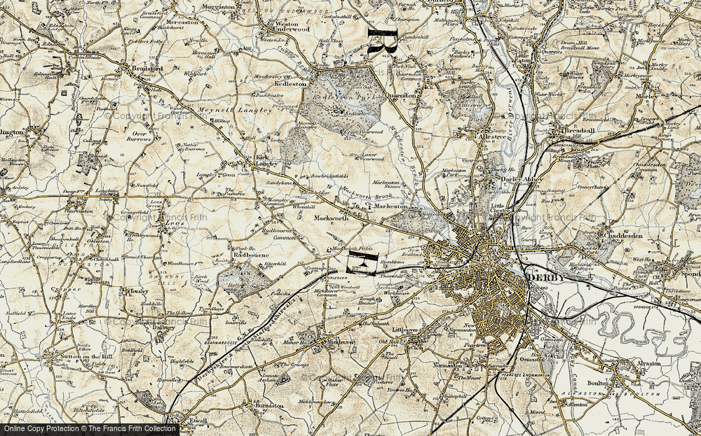Old Map of Mackworth, 1902-1903 in 1902-1903