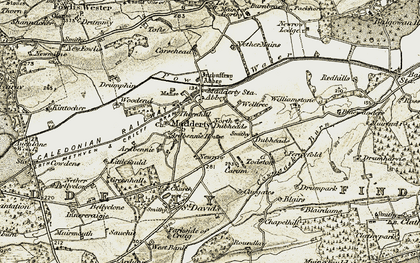Old map of Todston in 1906-1908