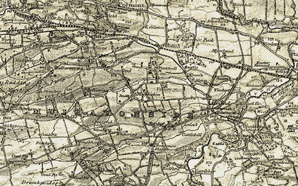 Old map of Lathallan in 1904-1906
