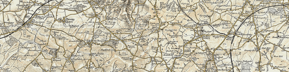 Old map of Madeley Heath in 1901-1902