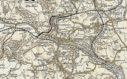 Old map of Madeleywood in 1902