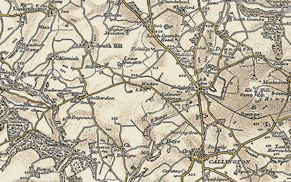 Old map of Maders in 1899-1900