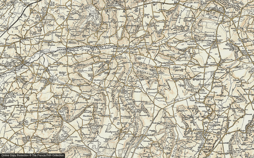 Old Map of Historic Map covering Lemon's Hill in 1898-1900