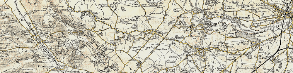 Old map of Madley in 1900-1901