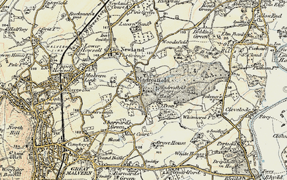 Old map of Madresfield in 1899-1901