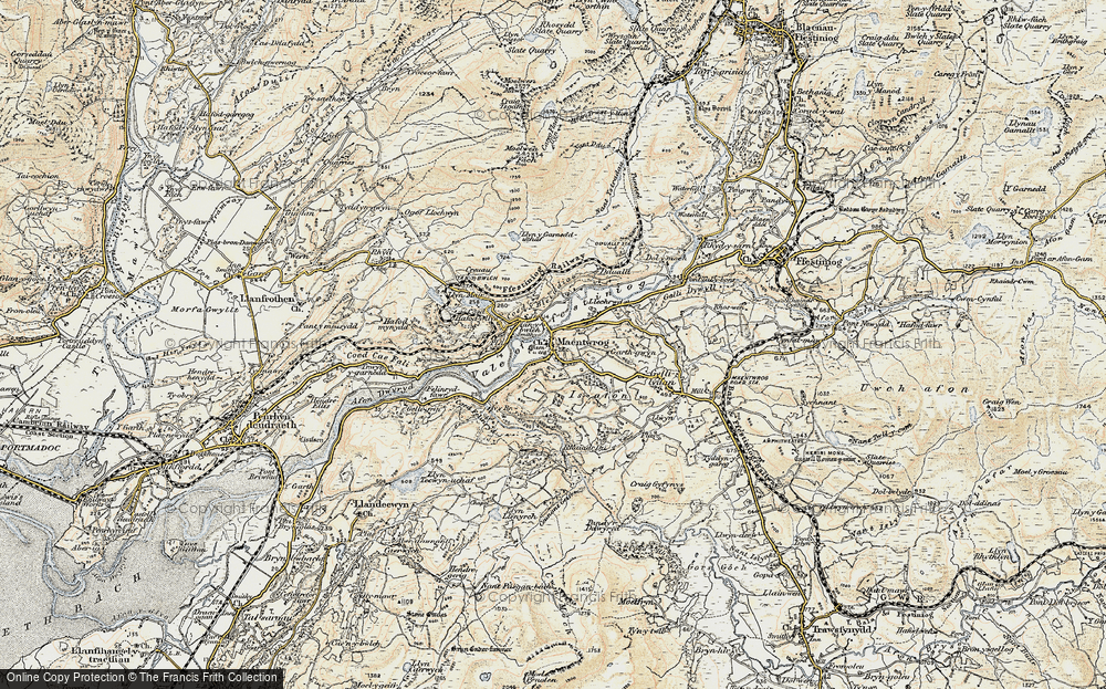 Old Map of Maentwrog, 1903 in 1903