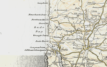 Old map of Maer in 1900