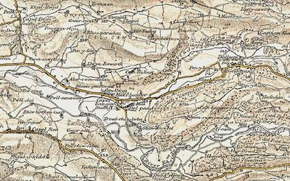 Old map of Allt y Gwreiddyn in 1901-1903