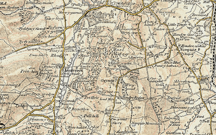 Old map of Tir-y-coed in 1902-1903