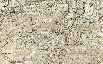 Old map of Allt Cynhelyg in 1900-1902