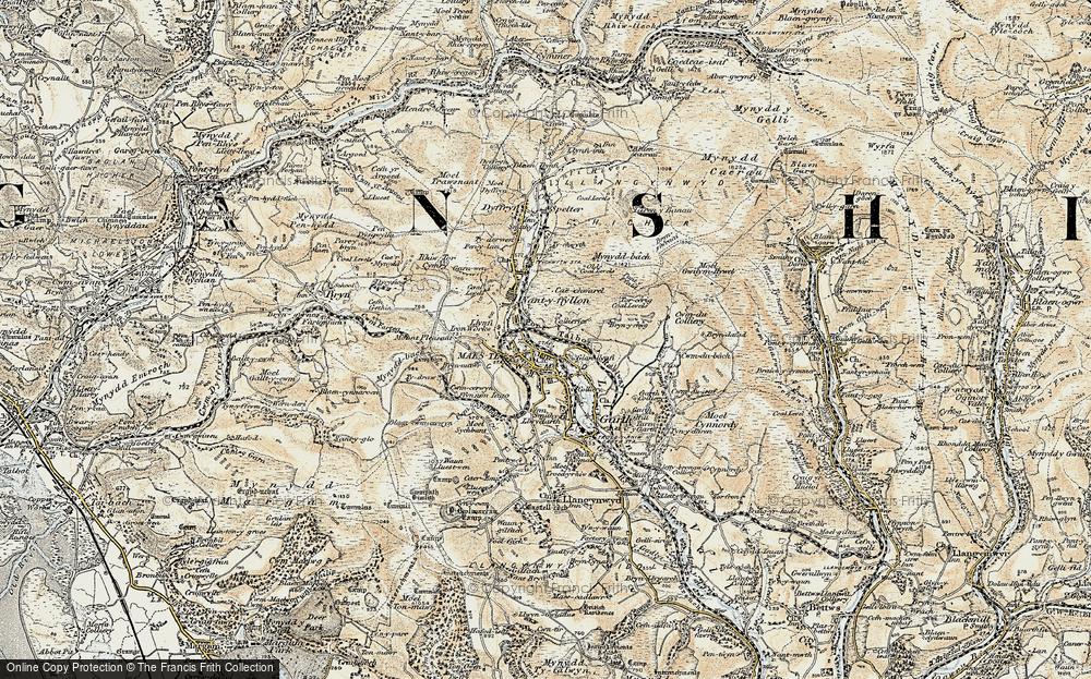 Old Map of Maesteg, 1900-1901 in 1900-1901