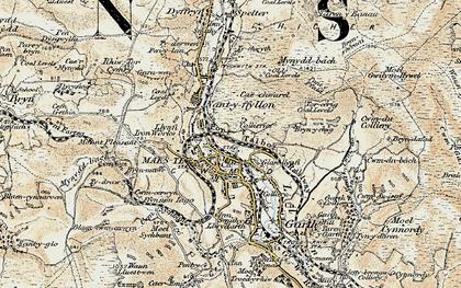 Old map of Maesteg in 1900-1901