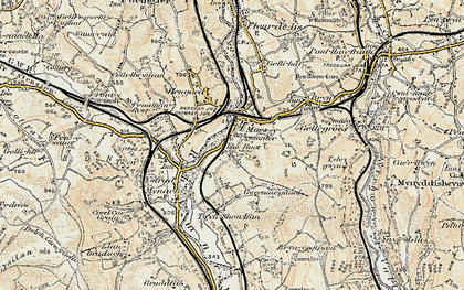 Old map of Maesycwmmer in 1899-1900