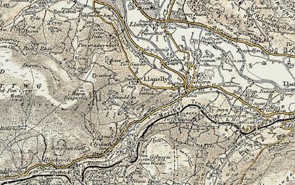 Old map of Tir Gunter in 1899-1901
