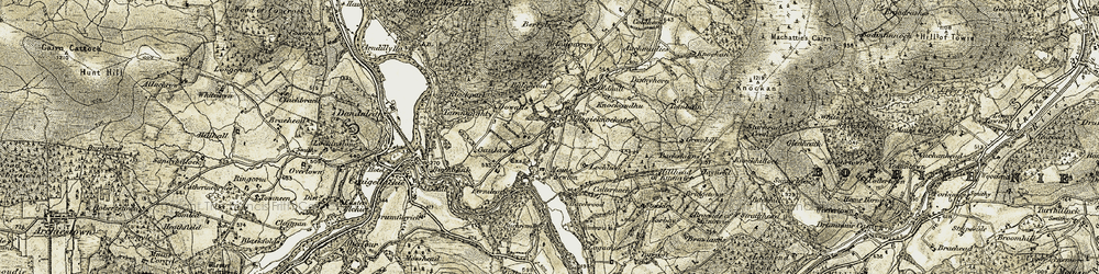 Old map of Wood of Arndilly in 1908-1910