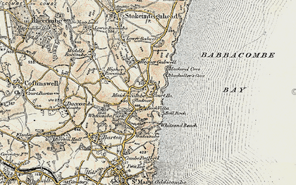 Old map of Maidencombe in 1899