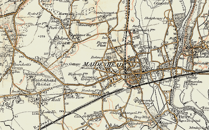Old map of Maidenhead in 1897-1909