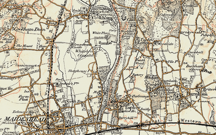 Old map of White Brook in 1897-1909