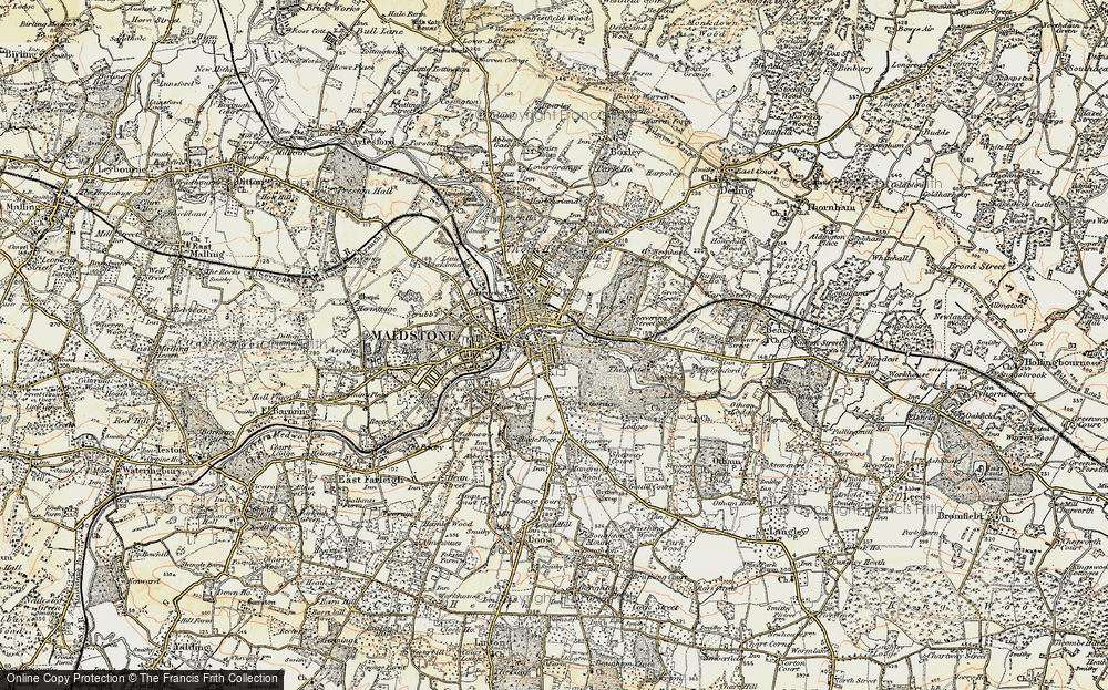 Old Maps of Maidstone Francis Frith