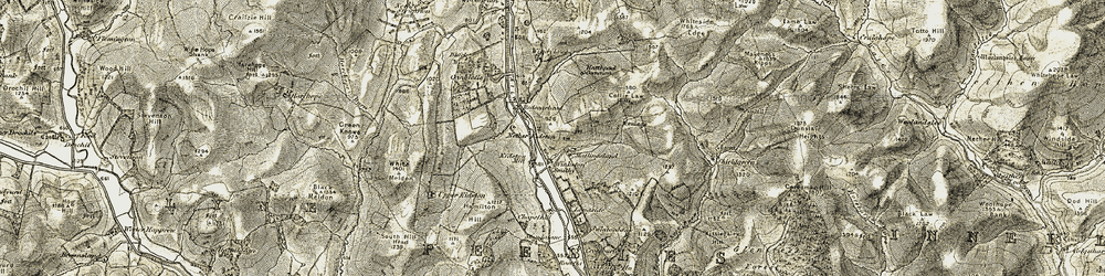 Old map of Whitfold Hill in 1903-1904