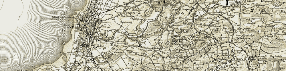 Old map of Whitefordhill in 1904-1906
