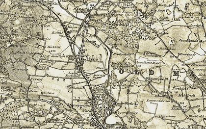 Old map of Aryburn in 1909