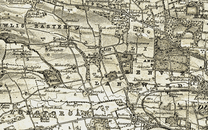 Old map of Mains of Gray in 1907-1908