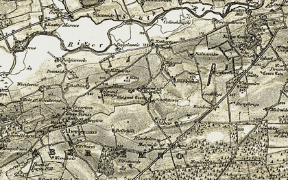 Old map of White Myre in 1907-1908